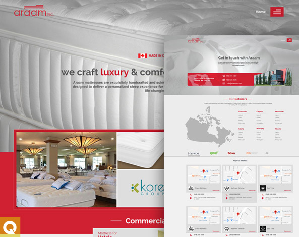 Customized detail oriented website