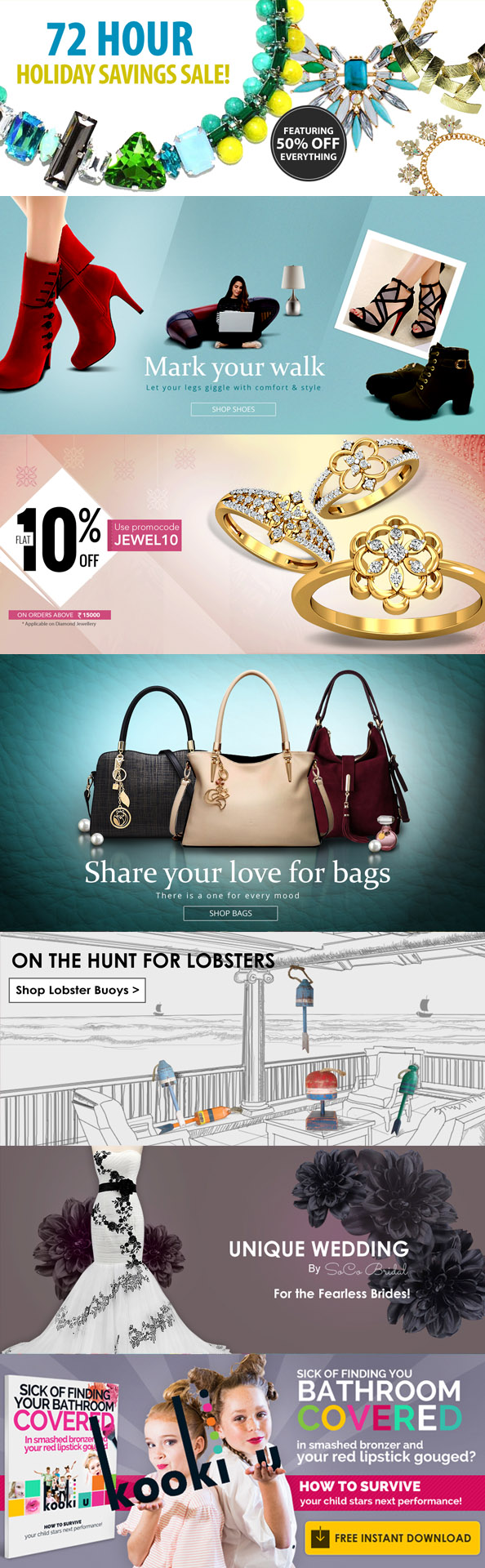 Ecommerce banner for retail stores
