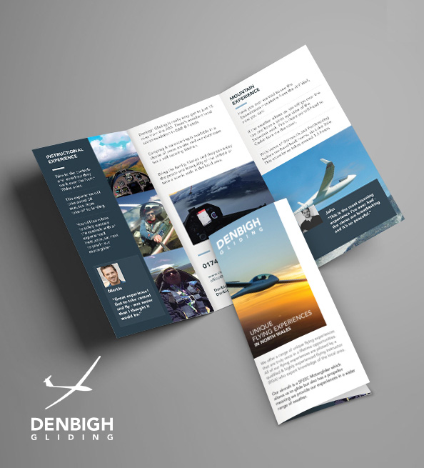 Light nicely designed brochure to send via mail
