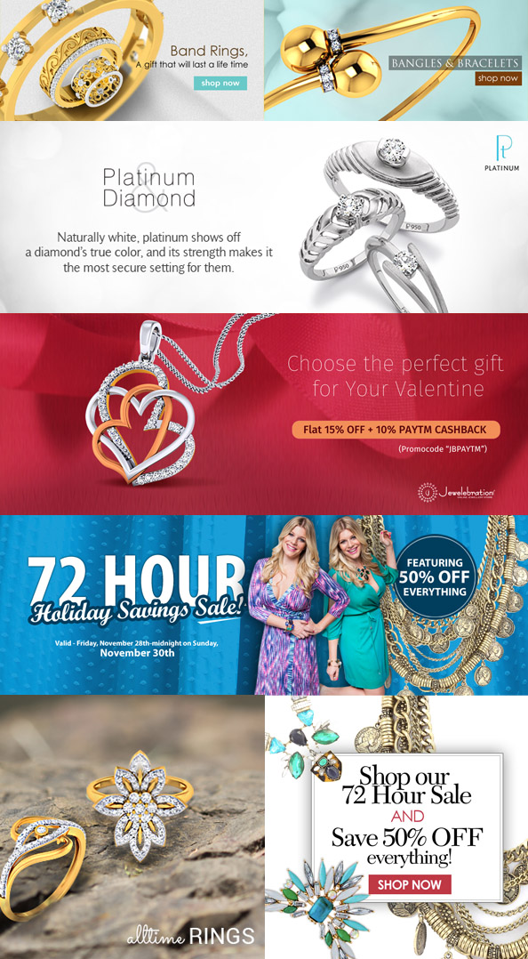 Jewelry lifestyle makeup Social Media banners